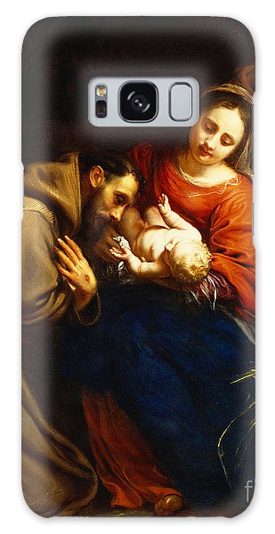 Joseph Galaxy Case - The Holy Family With Saint Francis by Jacob van Oost