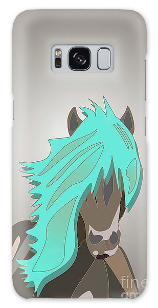 The Horse With The Turquoise Mane Galaxy Case