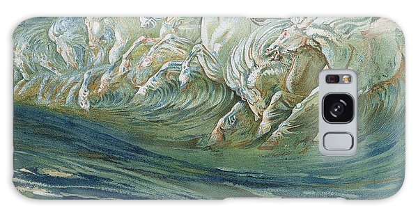 Mythological Galaxy Case - The Horses Of Neptune by Walter Crane