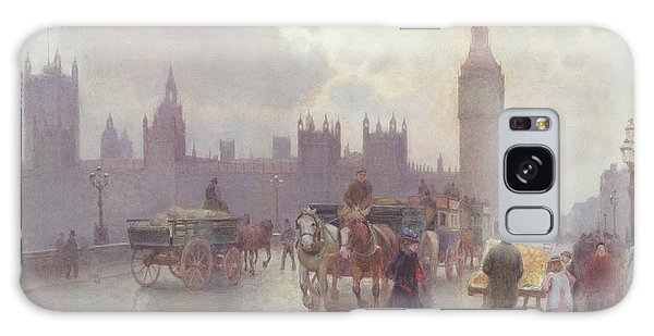 Houses Of Parliament Galaxy Case - The Houses Of Parliament From Westminster Bridge by Alberto Pisa