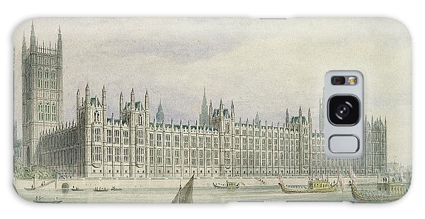 Houses Of Parliament Galaxy Case - The Houses Of Parliament by Thomas Hosmer Shepherd