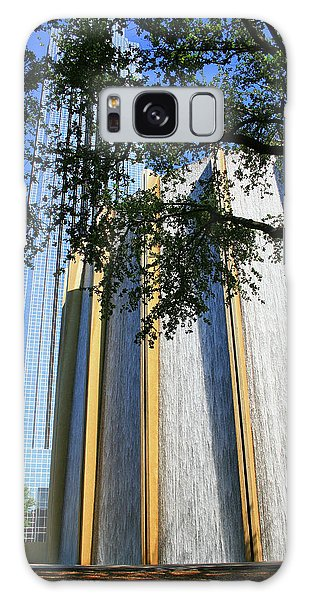 The Houston Water Wall And Williams Tower Galaxy Case
