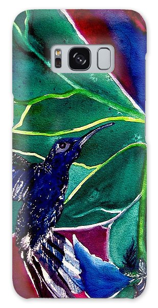 The Hummingbird And The Trillium Galaxy Case by Lil Taylor