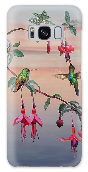The Hummingbird Fuchsia Galaxy Case