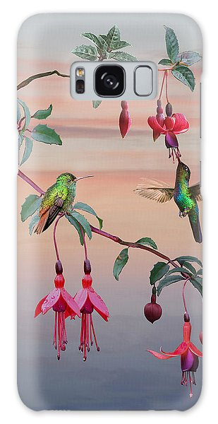 The Hummingbird Fuchsia Galaxy Case