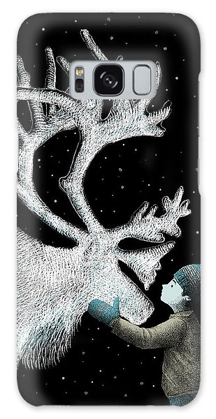 Antlers Galaxy Case - The Ice Garden by Eric Fan