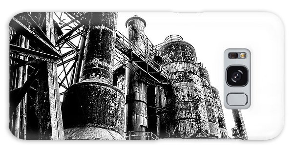 The Industrial Age At Bethlehem Steel In Black And White Galaxy Case by Bill Cannon