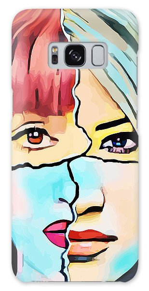 The Inner Struggle Split Personality Abstract Galaxy Case