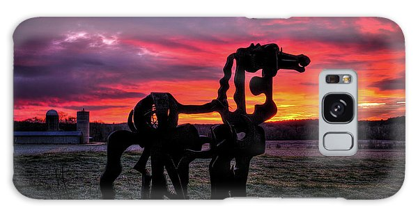 The Iron Horse Sun Up Art Galaxy Case