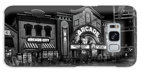 The Island Arcade In Black And White Galaxy Case