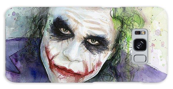 Knight Galaxy Case - The Joker Watercolor by Olga Shvartsur