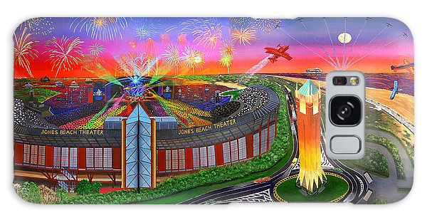 The Jones Beach Theatre With Fireworks Galaxy Case by Bonnie Siracusa