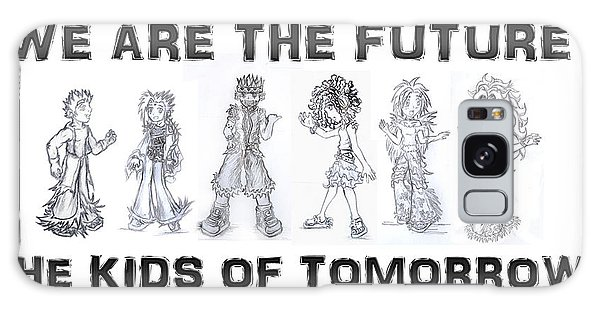 Galaxy Case featuring the drawing The Kids Of Tomorrow 1 by Shawn Dall
