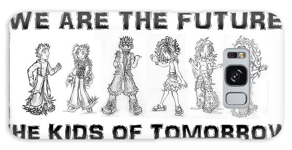 Galaxy Case featuring the drawing The Kids Of Tomorrow 2 by Shawn Dall