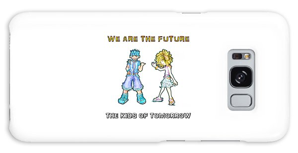 Galaxy Case featuring the digital art The Kids Of Tomorrow Toby And Daphne by Shawn Dall