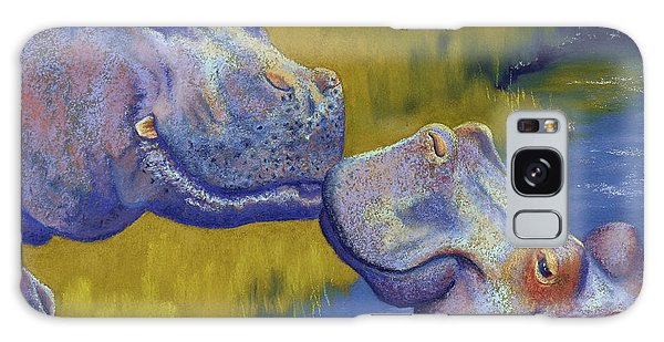Hippopotamus Galaxy S8 Case - The Kiss - Hippos by Tracy L Teeter