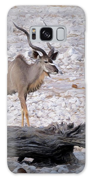 The Kudu In Namibia Galaxy Case by Ernie Echols