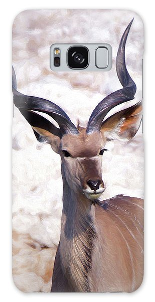The Kudu Portrait 2 Galaxy Case by Ernie Echols