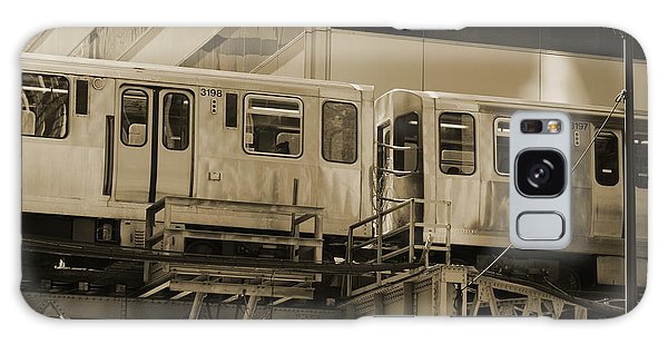 The L Downtown Chicago In Sepia Galaxy Case