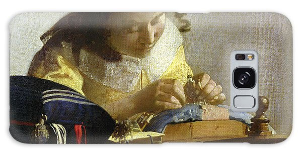 Jan Vermeer Galaxy Case - The Lacemaker by Jan Vermeer
