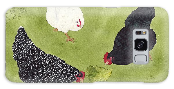 The Ladies Love Salad Three Hens With Lettuce Galaxy Case