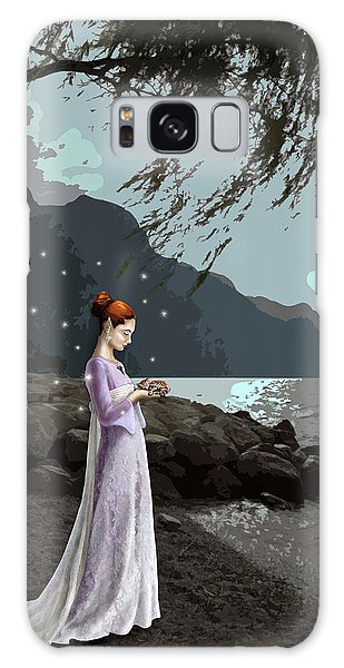 The Lady And The Kitty Galaxy Case