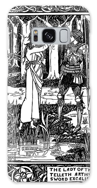Decorative Galaxy Case - The Lady Of The Lake Telleth Arthur Of The Sword Excalibur by Aubrey Beardsley