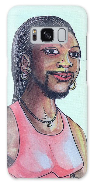 The Lady With A Beard Galaxy Case