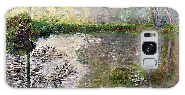 Impressionism Galaxy Case - The Lake At Montgeron by Claude Monet