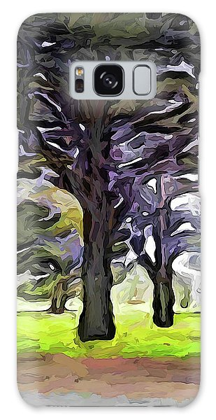 The Landscape With The Trees In A Row Galaxy Case