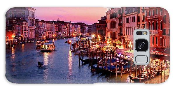 The Blue Hour From The Rialto Bridge In Venice, Italy Galaxy Case