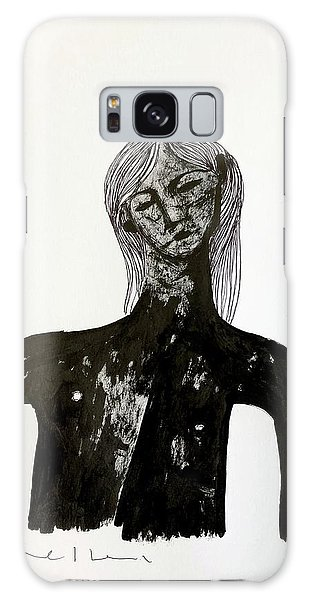 Pen And Ink Drawing Galaxy Case - The Last Man  by Mark M Mellon