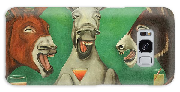 The Laughing Donkeys Galaxy Case by Leah Saulnier The Painting Maniac