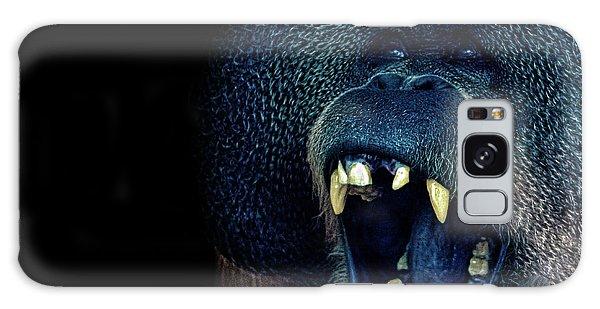 The Laughing Orangutan Galaxy Case by Martin Newman