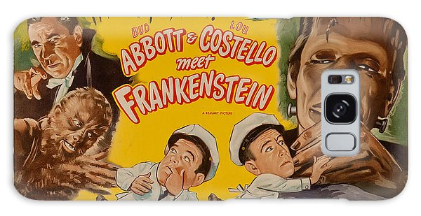 The Laughs Are Monsterous Abott An Costello Meet Frankenstein Classic Movie Poster Galaxy Case