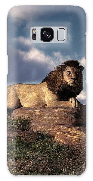 The Lazy Lion Galaxy Case by Daniel Eskridge