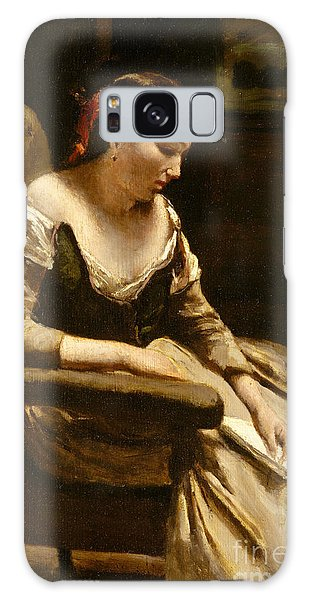 Heartache Galaxy Case - The Letter by Jean Baptiste Camille Corot