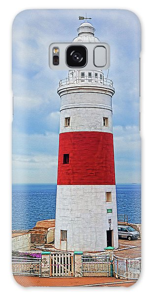 The Lighthouse At Europa Point Galaxy Case