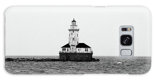 The Lighthouse Black And White Galaxy Case