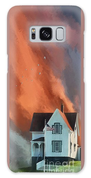 The Lighthouse Keeper's House Galaxy Case by Lois Bryan