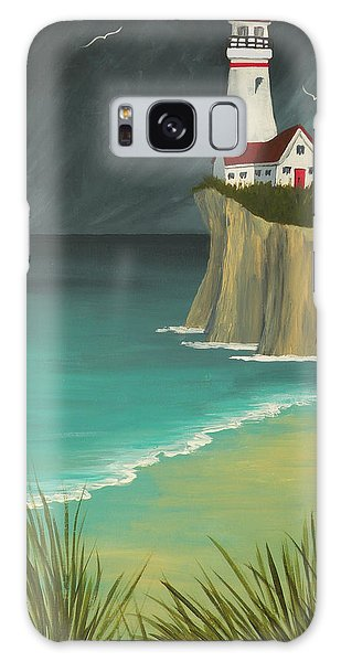 The Lighthouse On The Cliff Galaxy Case