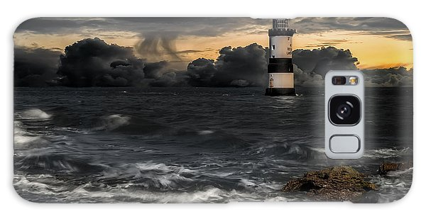 Puffin Galaxy S8 Case - The Lighthouse Storm by Adrian Evans