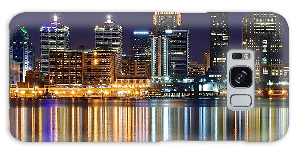 The Lights Of A Louisville Night Galaxy Case by Frozen in Time Fine Art Photography