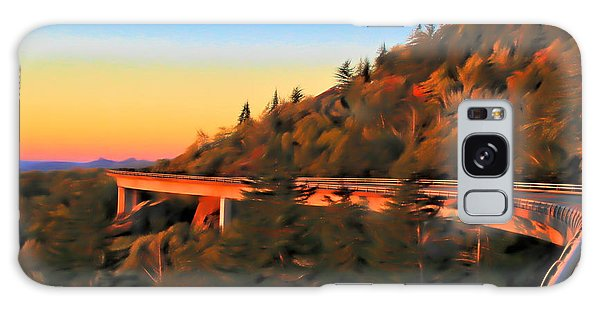 Traveler Galaxy Case - The Linn Cove Viaduct At Sunrise by Dan Sproul
