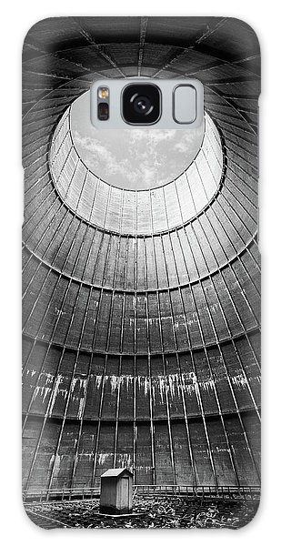 the little house inside the cooling tower BW Galaxy Case by Dirk Ercken