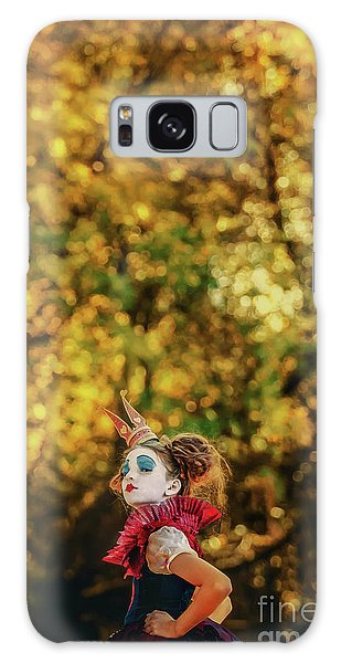 Galaxy Case featuring the photograph The Little Queen Of Hearts Alice In Wonderland by Dimitar Hristov