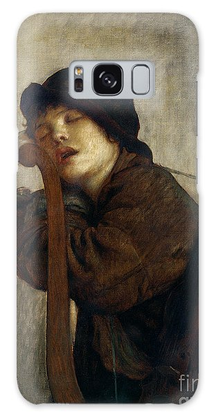 Violin Galaxy Case - The Little Violinist Sleeping by Antoine Auguste Ernest Hebert