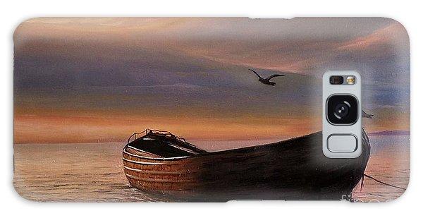 A Lone Boat Galaxy Case