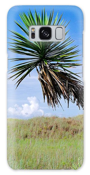 Padre Island National Seashore Galaxy S8 Case - The Lone Yucca by Gary Richards