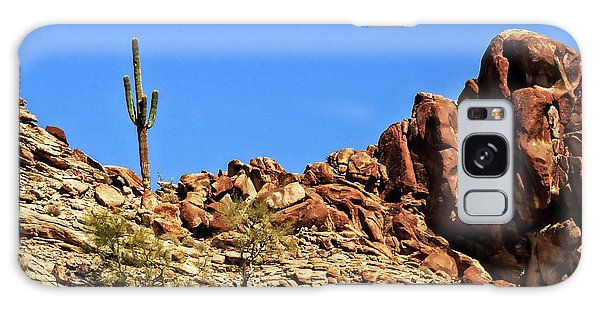 The Lonesome Saguaro Galaxy Case by Robert Bales